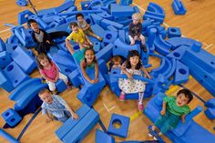Imagination Playground is now open at Pretend City. Building with these large scale blocks develops creativity, engineering, and math skills!