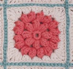 Puff flowers joined with single crochet