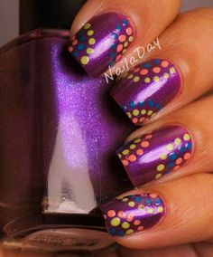 NailaDay: Color Club Rev'd Up with Dots