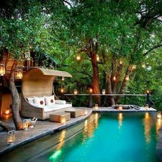 Having a pool sounds awesome especially if you are working with the best backyard pool landscaping ideas there is. How you design a proper backyard with a pool matters. Outdoor Pool, Outdoor Spaces, Outdoor Living, Outdoor Decor, Outdoor Retreat, Outdoor Furniture, Beautiful Homes, Beautiful Places, Wonderful Places