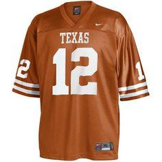 4faf047fb4 Nike Texas Longhorns  12 Burnt Orange Replica Football Jersey