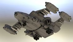 """Heavy Lift Gunship. Midgets unload some snacks and a Vesuvius Arm. """"When you absolutely, positively, just HAVE to wipe out the entire enemy force in the first five minutes of battle.... accept no s..."""