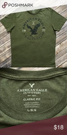 NWOT - American Eagle Outfitters Short Sleeved Tee NWOT - American Eagle Outfitters Short Sleeved Tee (size Large). In fantastic condition. Please be sure to check out all of my other men's items to bundle and save. Same day or next business day shipping is guaranteed. Reasonable offers will be considered. American Eagle Outfitters Shirts Tees - Short Sleeve