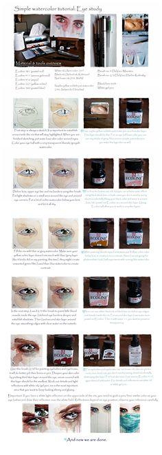 Simple watercolor tutorial: Eye study by =jane-beata on deviantART