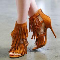 Gypsy Queen Fringe Dress Sandals