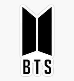 """BTS New Logo - Black"" Stickers by kpopbuzzer Pop Stickers, Tumblr Stickers, Anime Stickers, Printable Stickers, Luggage Stickers, Bts Army Logo, Bts Birthdays, Bts Merch, Bts Drawings"