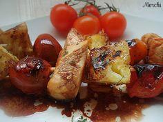 Brochetas de pollo, piña y tomatitos - Tvcocina . Recetas de Cocina Gourmet Restaurantes Vinos Vídeos