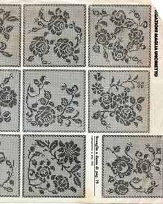 Photo from album Crochet Motif Patterns, Filet Crochet Charts, Granny Square Crochet Pattern, Crochet Cross, Crochet Diagram, Thread Crochet, Crochet Designs, Crochet Stitches, Crochet Curtains