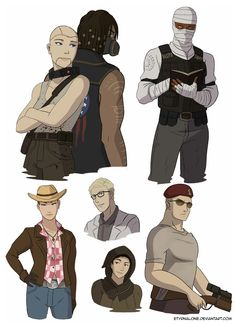 Fallout - Sketch Dump 27/06/2015 by EtyrnalOne on DeviantArt Fallout Art, Fallout Funny, Fallout New Vegas, Fallout Comics, Character Art, Character Design, Saga, Video Game Art, Video Games