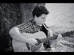 Senior portraits with Mr. X and his guitar