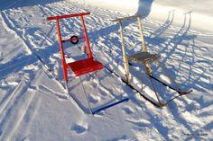 Kohta on lunta maassa, potkukelkat esiin siis!