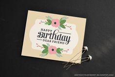 Free Printable Floral Birthday Card