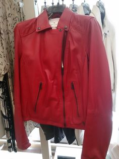 Ottodame new!|CHEERS yoshiのブログ I actually already own a red SCHOTT biker jacket - same style as the white one Lady GaGa owns! - but this red looks fab, too! Italians do red so much better than everyone else!!!