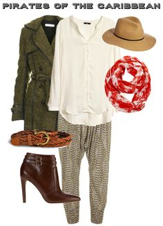 Outfit Inspiration: Pirates of the Caribbean ~ I don't like the pants and scarf but otherwise I like it.