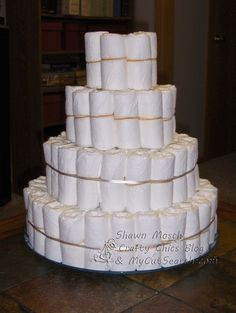 Learn how to make a diaper cake -- a baby shower gift that doubles as a decor element. Description from pinterest.com. I searched for this on bing.com/images