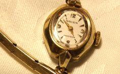 Vintage Women's Gruen Precision Wristwatch/ RGP by EclairJewelry, $40.00 // I had a Gruen something like this many years ago.