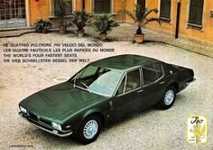 Sketchbook historic cars Pictures: Milano - Iso Rivolta S4 - Carrozzeria Ghia - Le qu...