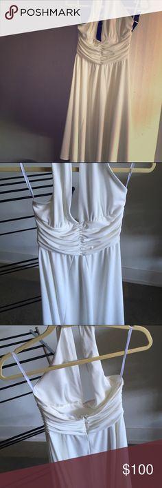 NWT white dress Marilyn Monroe style dress from WHBM! Originally $148! Size 4! White House Black Market Dresses