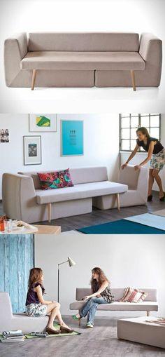 aménagement petit salon, joli canapé beige pour petit espace
