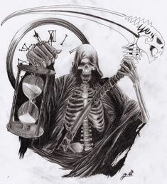 Grim Reaper Tattoo Design Idea 41                                                                                                                                                                                 Mais