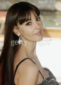Monica bellucci bangs