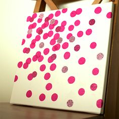 DIY Wall Art: Sparkly Confetti (would do in a different color)