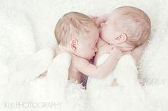 newborn twins, angels, preemie