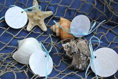 Wedding Decor, Table setting, Beach Wedding Seashell Place Holders, Name Tags 12