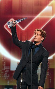 Johnny Depp People's Choice Award. 2017