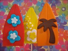 Surfer Boy Surfboard Fondant Cupcake Topper by KonfectionKreations, $16.00