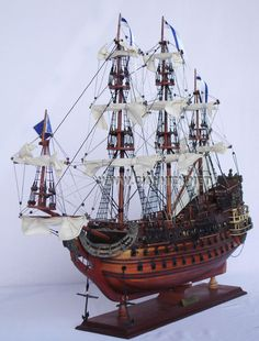 The exact launch date of the Flagship of the French Fleet, SOLEIL ROYAL with its 104 cannons, is a matter of dispute. Many historians say 1690 whilst others are of the opinion that she was engaged in combat in the Mediterranean Sea as early as the 1670's.