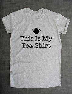 This Is My TeaShirt Tea TShirt by ResilienceStreetwear on Etsy