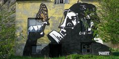 Wonderful street-art by Pøbel at Lofoten