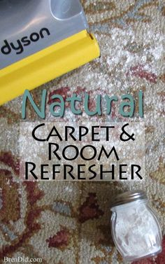 All natural carpet and room refresher naturally deodorizes and scents your room. It even deodorizes your vacuum and makes it smell great during and after vacuuming! Must try after bathing the dog! BrenDid.com