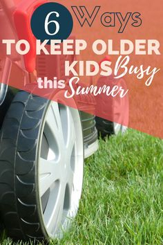 Keep older kids busy over summer break while school is out with these six ideas that will keep them off of screens!  | keep kids busy in summer | keep kids busy indoors | keep kids busy at home