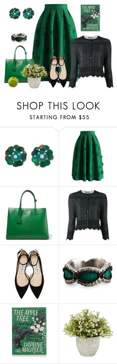 """The Apple Tree"" by jamielojordan ❤ liked on Polyvore featuring Cartier, Chicwish, Prada, Alexander McQueen, Jimmy Choo, Armenta and Olympia Le-Tan"