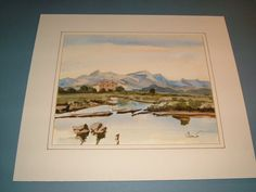 1970s OOAK Watercolor Riverscape Painting of a by BiminiCricket, $55.00