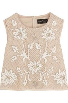 Embellished georgette top #top #women #covetme #needle&thread