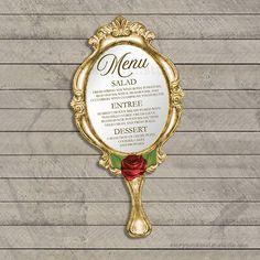Beauty and the Beast Baby Shower Invitations / Die Cut Hand Mirror PRINTED for sale online Beauty And The Beast Wedding Invitations, Beauty And The Beast Wedding Theme, Royalty Wedding Theme, Invitation Baby Shower, Wedding Invitation Sets, Birthday Invitations, Disney Wedding Invitations, Deco Candy Bar, Quinceanera Invitations