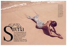 The Vogue Spain 'El Canto De La Sirena' Photoshoot Stars Juju Ivanyuk #fashion trendhunter.com