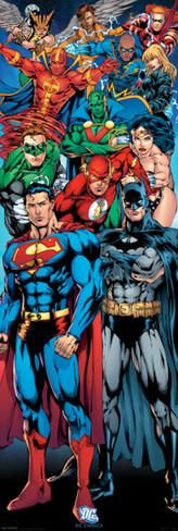 DC Comics - Justice League Of America Door Poster