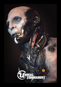 Necris Sculpture by Art Director Chris Perna. Photographed by Senior Artist Bill Green. Unreal Tournament, Body Armor, Art Studies, Art Director, Cyberpunk, Sculpting, Concept Art, Monkeys, Destiny