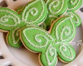 tinkerbell cookie with royal icing