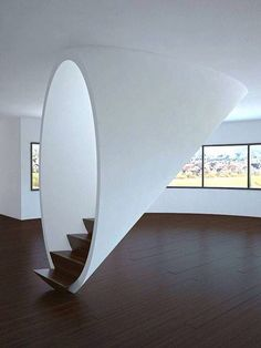This Minimalist staircase is gorgeous!!
