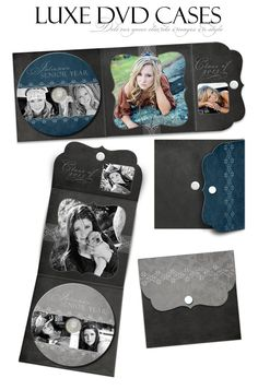 LUXE DVD Labels & Cases - Chalkboard - (3) Digital Templates for Photographers. $19.99, via Etsy.