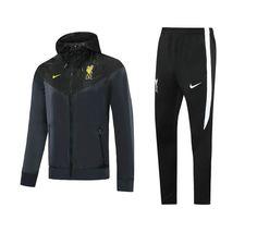 Liverpool 20/21 Black Hoodie Men Windbreaker Suit – zorrojersey Fc Barcelona, Fc Liverpool, Fc Chelsea, Black Hoodie, Adidas Jacket, Windbreaker, 21st, Sweatpants, Suits