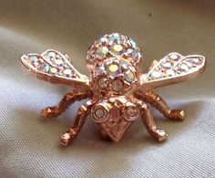 Joan Rivers Summer Bee 1996 (AB crystals on rose gold tone)