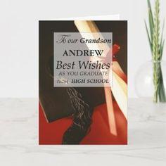 3740 Grandson Graduation Hat Card | Zazzle.com Graduation Message, Graduation Invitations College, Graduation Quotes, High School Graduation, Graduation Cards, Graduate School, Graduation Ideas, Graduation Greetings, Congratulations Graduate