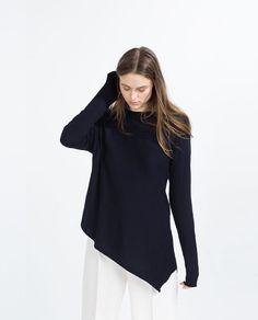 ASYMMETRIC HEM SWEATER - Available in more colours