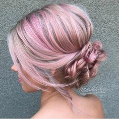 Enchanting soft updo! Hair inspo by @heatherchapmanhair. #Hair #Haircolor #Color #Pink #Pinkhair #Soft #Updo #Braids #Messy #Wedding #Event #Styling #Hairstyle #Hairstyling #Hairdresser #Stylist #Salon #Hotd #Suavecitabeauty #Beauty #Suavecita
